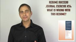 172 Resume Success Journal Exercise 24 What is Wrong with This Resume