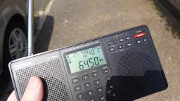 Ebay HRD-831 FM OIRT Band Transmitter Test on 64.5 mhz just about reaches the beach