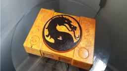 Custom Painted PlayStation-Mortal Kombat Theme