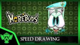 Speed Drawing: MobéBuds Evil Arney (Concept 1) | Mr. A.T. Andrei Thomas