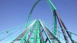 Riddlers Revenge Front Row POV Six Flags Magic Mountain