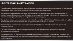 Accidents Lawyer Peterborough - LPC - Personal Injury Lawyer Peterborough (705) 243-3685