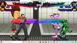 Niko Beliic & Butt-Head VS Pink Panther & Chester Cheetah Mugen Fight