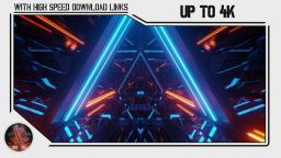 free triangle space tunnel corridor design motion backgrounds (up to 4k uhd) | vj loops 283
