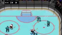 NHLPA 93 - Broken Glass - Sega Genesis Gameplay