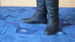 Jana shows her winter boots Jumex black with knop