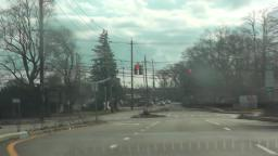 Doghouse Style Traffic Light on Long Island