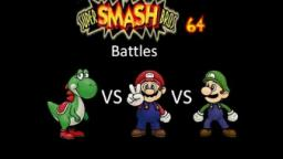 Super Smash Bros 64 Battles #35: Yoshi vs Mario vs Luigi