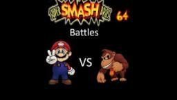 Super Smash Bros 64 Battles #5: Mario vs Donkey Kong