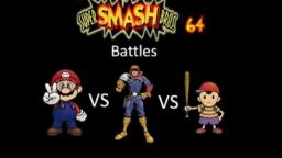 Super Smash Bros 64 Battles #24: Mario vs Captain Falcon vs Ness
