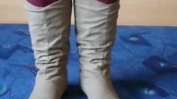 Jana shows her winter boots Jumex khaki