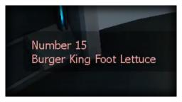 Number 15 - Aperture Science Foot Lettuce