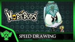 Speed Drawing: MobéBuds Robrio (Concept 1) | Mr. A.T. Andrei Thomas