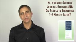 273 Networking Journal Exercise 48 Did People in Strategies 1-4 Make it Later