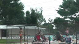 PEOPLE HAVING FUN AT ANOTHER ONE OF THE LEVITTOWN PUBLIC POOLS
