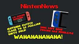 NintenNews: Nintendo Switch shy of hitting 20 million sold, Hori D-Pad Joycon has issues, and more!