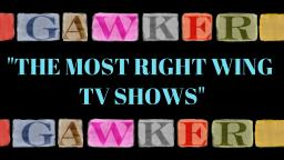 Gawker Ranks Most Conservative TV Shows
