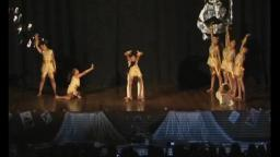 Modern dance designs on stage